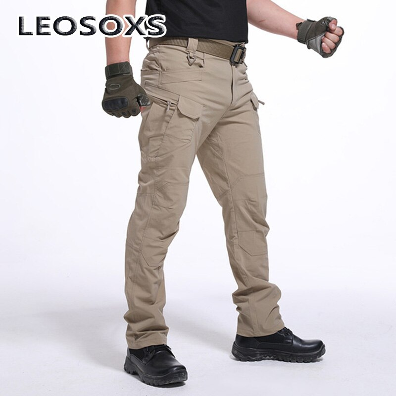 LEOSOXS marca camuflaje táctico militar pantalones de combate de carga Casual repelente de agua Ripstop hombres 3XL pantalones primavera otoño