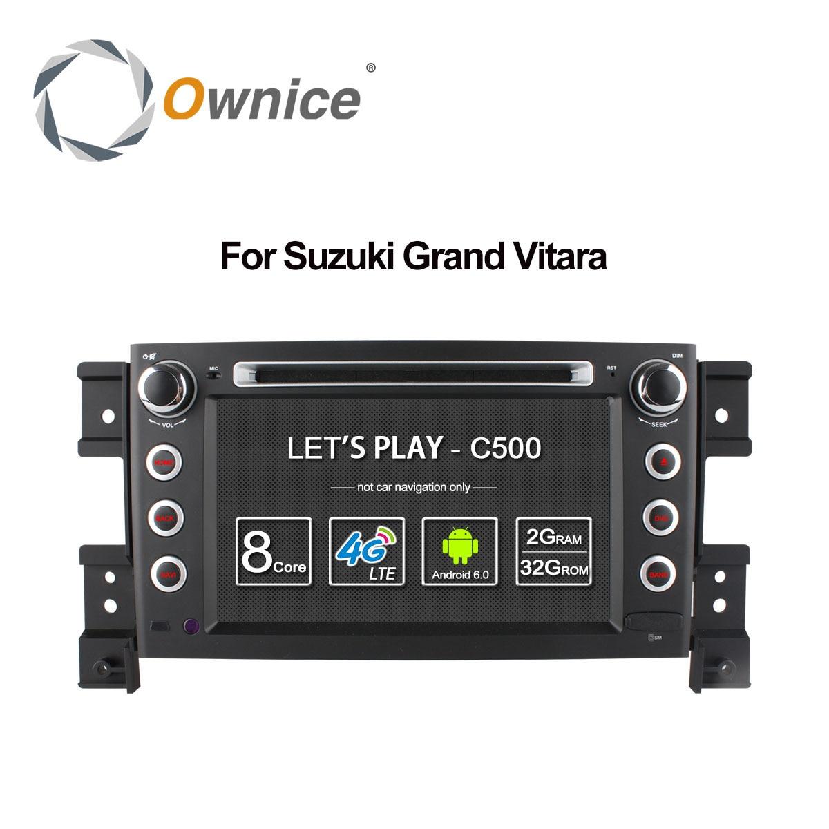 Автомобильный DVD-плеер, 4G SIM LTE 1024*600 Octa 8 Core Android 6,0 для SUZUKI GRAND VITARA 2005-2015, навигация GPS РАДИО wifi 32G ROM