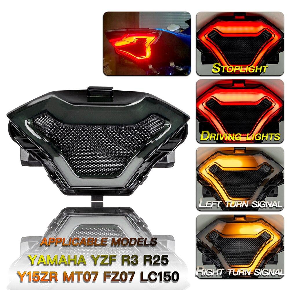 Мотоцикл модифицированный задний фонарь Стоп сигнал поворота для YAMAHA YZF R3 R25Y15ZR MT07 FZ07 LC150 аксессуары для мотоциклов