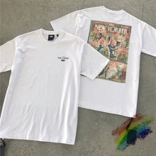 Camiseta de NEW YORKER Black Leader Kith para hombre y mujer, ropa Vintage de alta calidad, 1:1