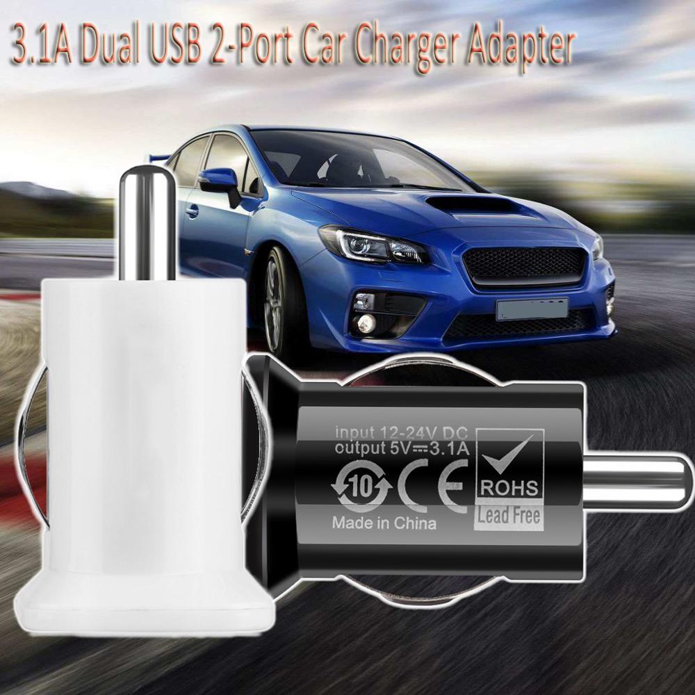 Coche rápido adaptador de cargador Universal cigarrillo encendedor de carga rápida para iPhone 5 5 5 6 6 7 8 iPod Mini 3.1A 12V 12V Dual USB 2 A-Port