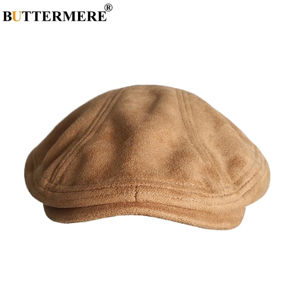 Береты BUTTERMERE, замшевые, кожаные, женские, верблюжьи, винтажные, плоские, мужские, повседневные, теплые, художественные, женские, Осенние, зимние, Duckbill Ivy Cap