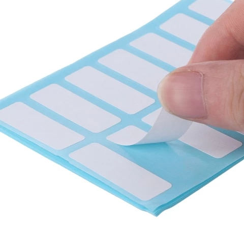 12 Sheet Self Adhesive Sticky White Label Blank Stickers Note Tags Crafts R9JB