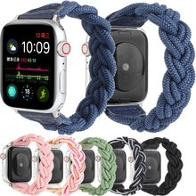 Elastic Braided Strap For Apple Watch 6 5 4 3 2 1 SE 44MM 40MM 42MM 38MM Couple Style New Apple Watc