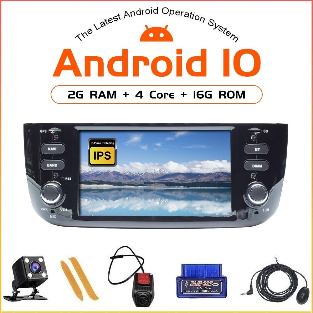 ZLTOOPAI Android 10.0 For Fiat Linea Punto EVO 2012 2013 2014 2015 Auto Radio Stereo Head Unit GPS Navigation Multimedia Player