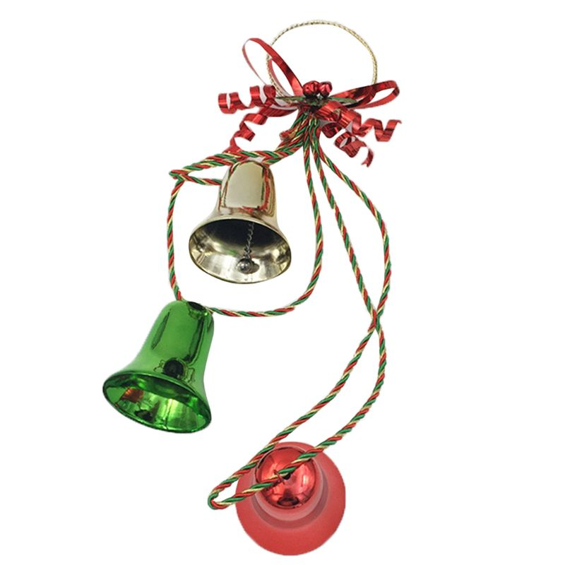 Navidad Bell Jingle Bell de colgadores de puerta con arco para adornos navideños U90A