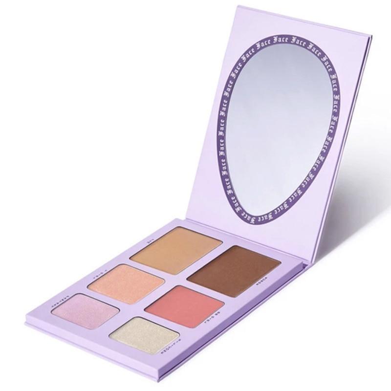 6 Colors/SET Women Dragun Beauty Eye Shadow Makeup Cosmetic Powder Waterproof Long Lasting Smoky Eyeshadow Palette