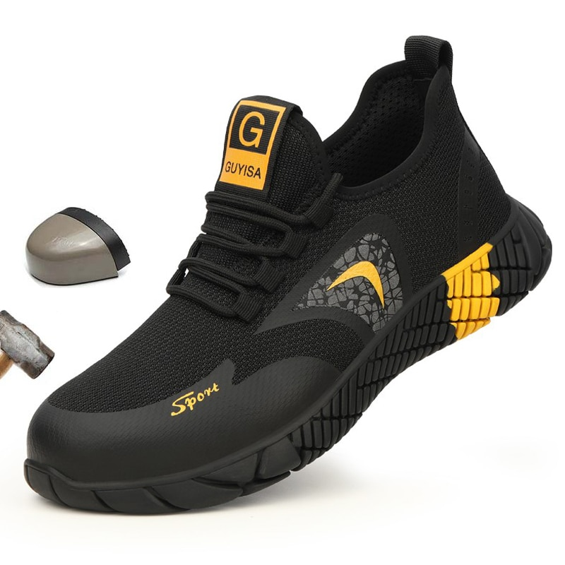 37 - 46 Code Fashion Light And Breathable Steel Safety Shoes Sneakers Steel Toe Cap Work Shoes Anti-