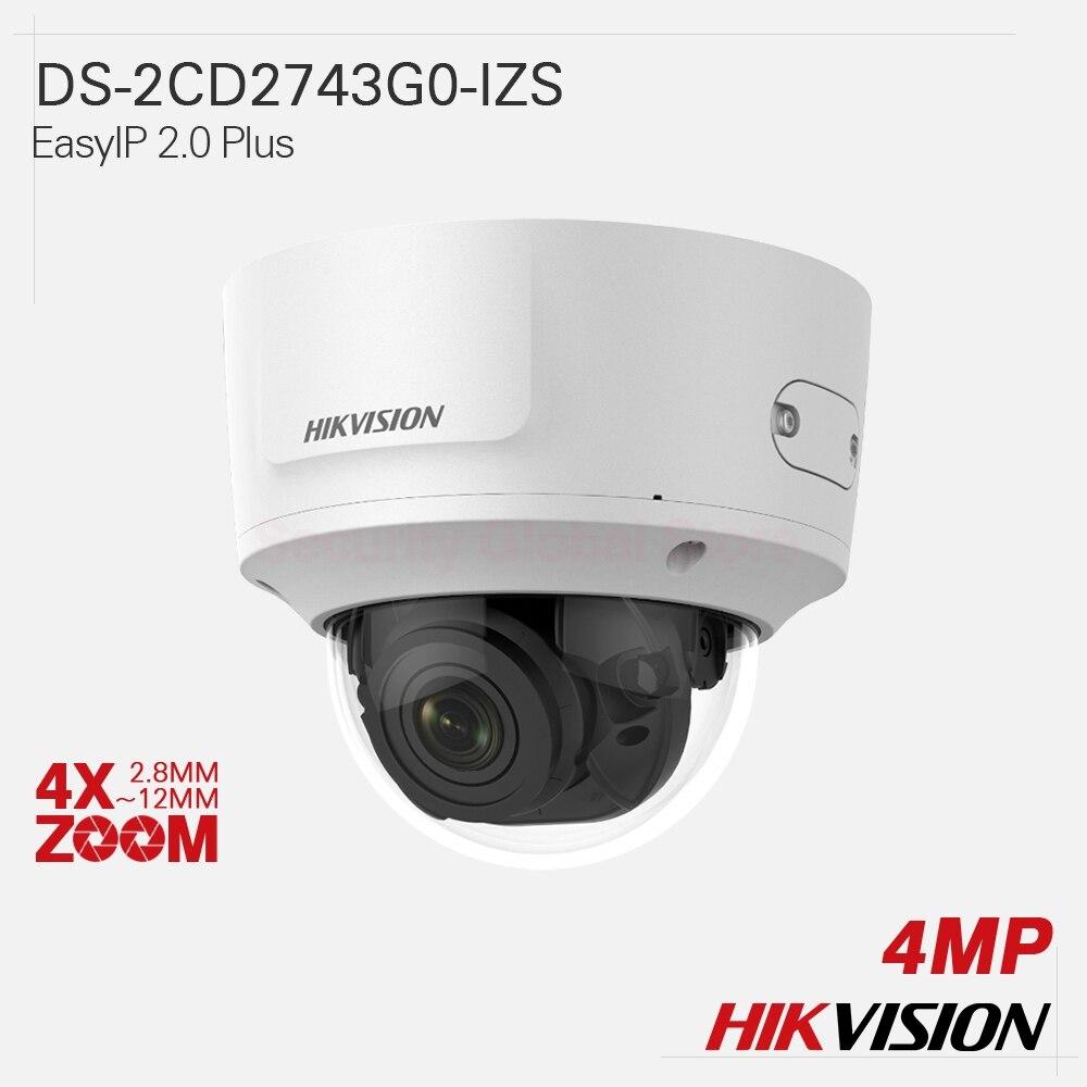 Hikvision Original IP Camera DS-2CD2743G0-IZS EasyIP 2.0 Plus 4X ZOOM 4MP H.265+ EXIR VF Dome All-metal IP67 IK10 120dB WDR