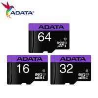 ADATA оригинальный слот для карт памяти 64 Гб Высокое Скорость Class 10 16 Гб оперативной памяти, 32 Гб встроенной памяти Micro SD карты U1 UHS-I TF карты памя...