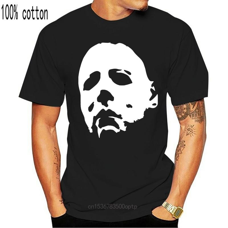 New Halloween Mask T-Shirt - Michael Myers Horror 1978 Jason Freddy Movie Horror 100 % Cotton Men Design Tops Harajuku Funny T-S