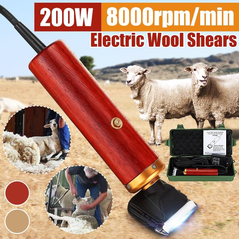 Electric Horse Sheep Pet Hair Clipper Shearing Kit Shear Wool Cut Goat Hair Scissors Pet Animal Shea