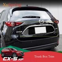for mazda cx 5 cx5 2017 2018 2019 2020 2021 kf car rear door trunk box trim sticker chrome garnish strips cover decoration