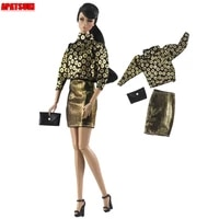 fashion outfits for barbie doll clothes set coin top blouse mini skirt handbag purse 16 bjd doll accessories kids toys