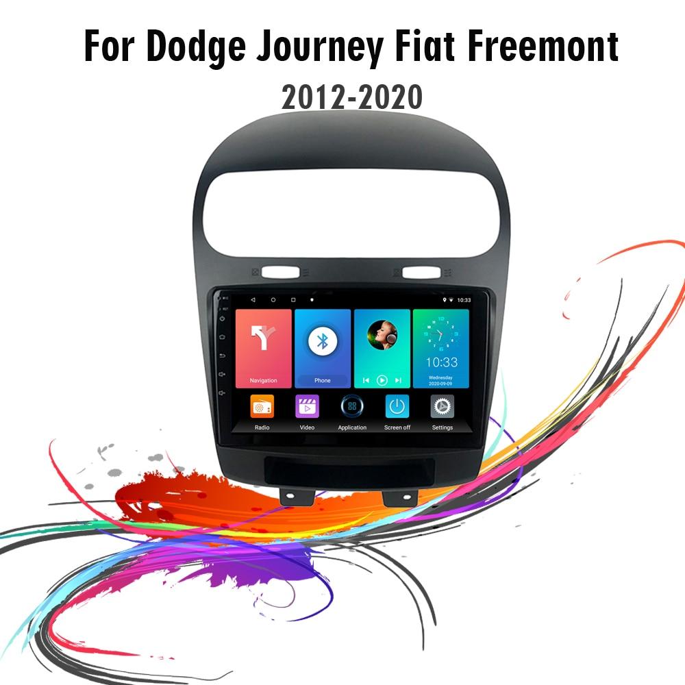 مشغل ملاحة لتحديد المواقع والوسائط المتعددة للسيارة 2 Din 9 بوصة بنظام تشغيل أندرويد 2 Din لسيارات دودج فيل فريمونت 2012-2020