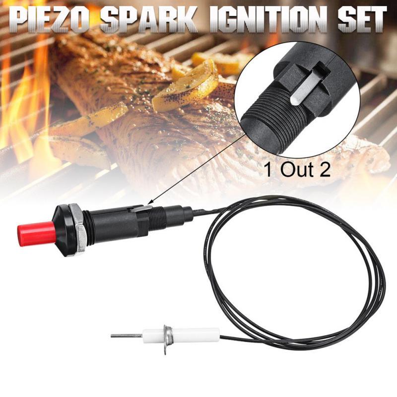 Fogo de partida piezo faísca ignição para gás grill forno botão casa cozinha com cabo churrasco eletrodomésticos acessórios dropship