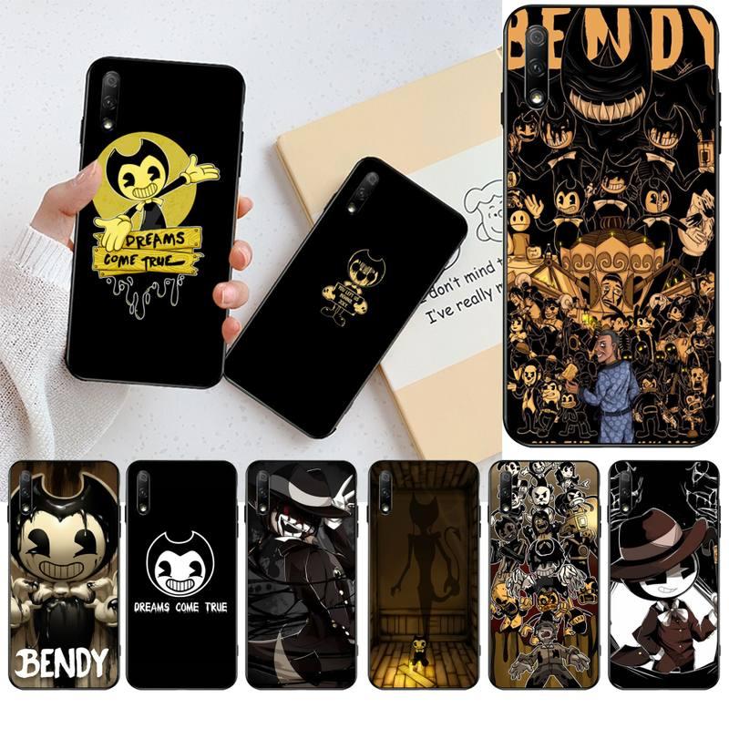 Nbdruicai jogo de terror bendy preto tpu macio caso telefone capa para huawei honra 20 10 9 8 8x 8c 9x 7c 7a lite vista pro