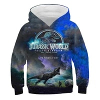 cartoon dinosaur hoodie 3d print harajuku hoodie jurassic park autumn streetwear boys and girls casual hoodie