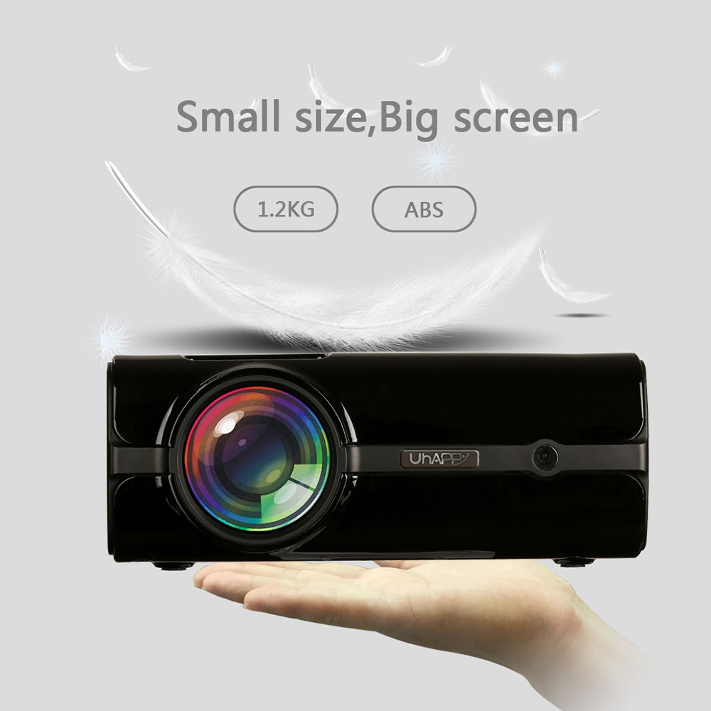 UNIC-Proyector portátil U45 para cine en casa, miniproyector LCD de vídeo HD...