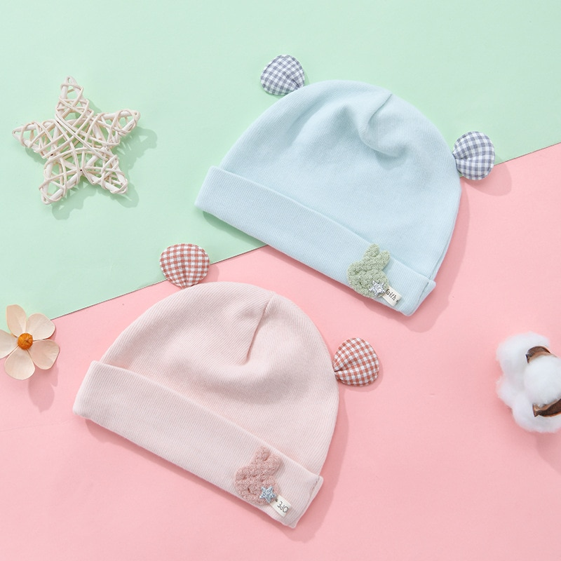 Новый стиль детские однотонные шапки Теплые осень-зима шапки с ушками для малышей; Шапка для малышей шапки для девочек