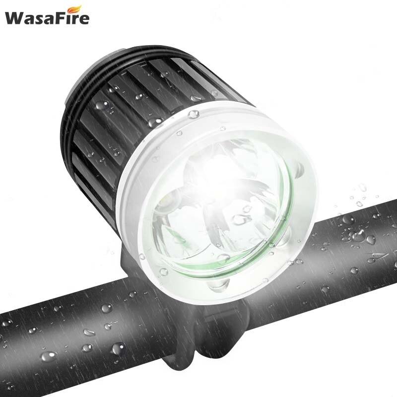 WasaFire 4000lm luz delantera de bicicleta 3x XM-L T6 LED Faro de bicicleta 3 modos MTB linterna impermeable para montar en bicicleta
