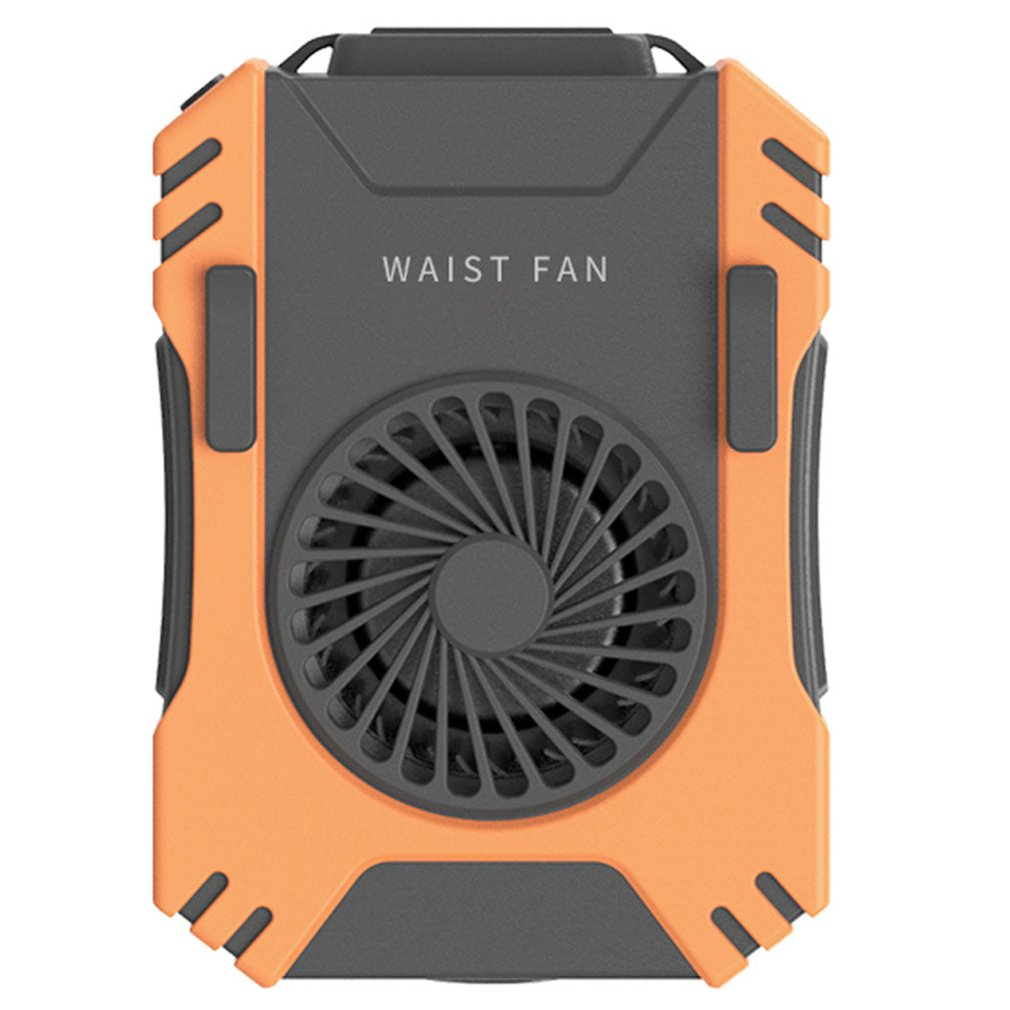 USB Portable Personal Hanging Waist Fan With Recharge Battery Ultra Quiet Wearable Electric Fan Handheld Air Conditioner