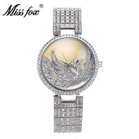ladies diamond full diamond designer brand luxury women watch phoenix bird high end wrist watch free shipping woman gold watch