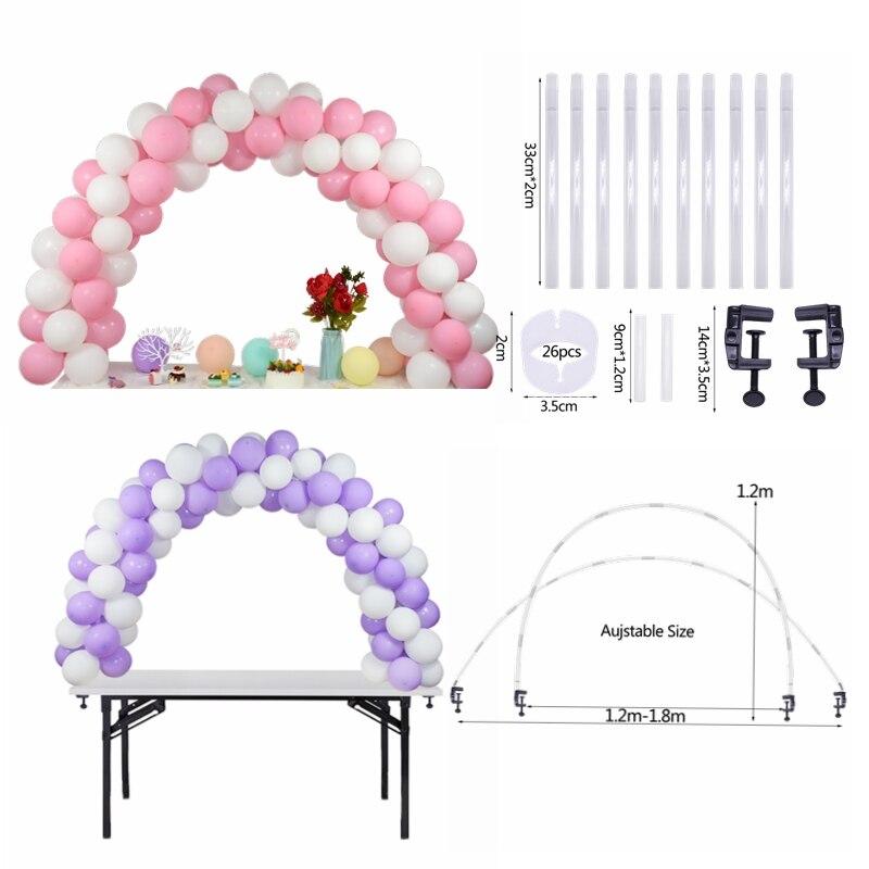 Globo de boda arco soporte para Globo soporte de columna DIY globo para niños cumpleaños decoración para fiesta de boda globo cadena Accesorios