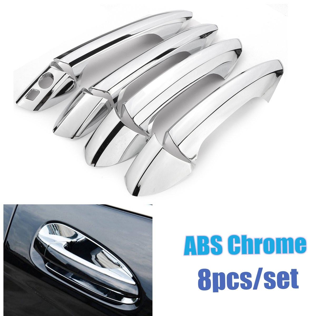 8 Uds manija de puerta lateral de cromo cubierta Set de molduras para Mercedes B/C/E/GLK/clase ML W246 W204 W212 X204 W166 W117