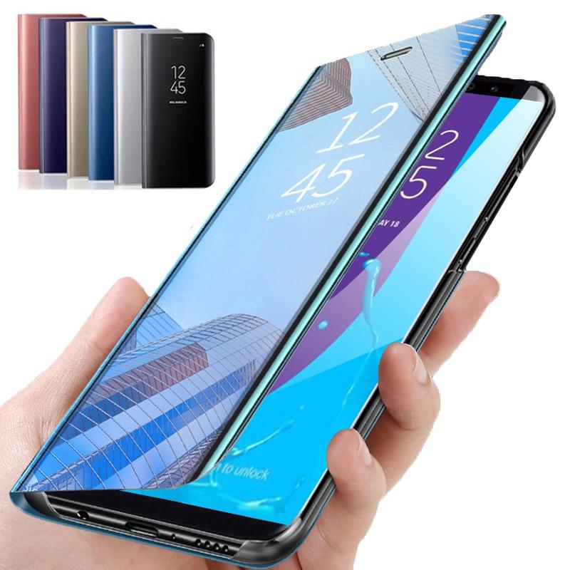Умный зеркальный флип-чехол для телефона samsung Galaxy J6 Plus 2018 J6Plus, задняя крышка для samsung A6 A7 2018 A5 2017 A6Plus A8Plus