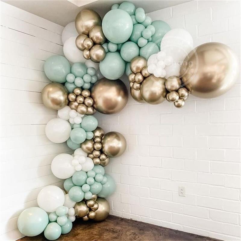 AliExpress - 116pcs Macaron Green Metallic Gold Balloon Garland Arch Wedding  Baby Shower Birthyday Party Background Decorations Globos