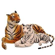 30-90 سنتيمتر نابض بالحياة النمر النمر ألعاب من القطيفة لينة الحيوانات البرية محاكاة النمر الأبيض جاكوار دمية الأطفال الاطفال هدايا عيد