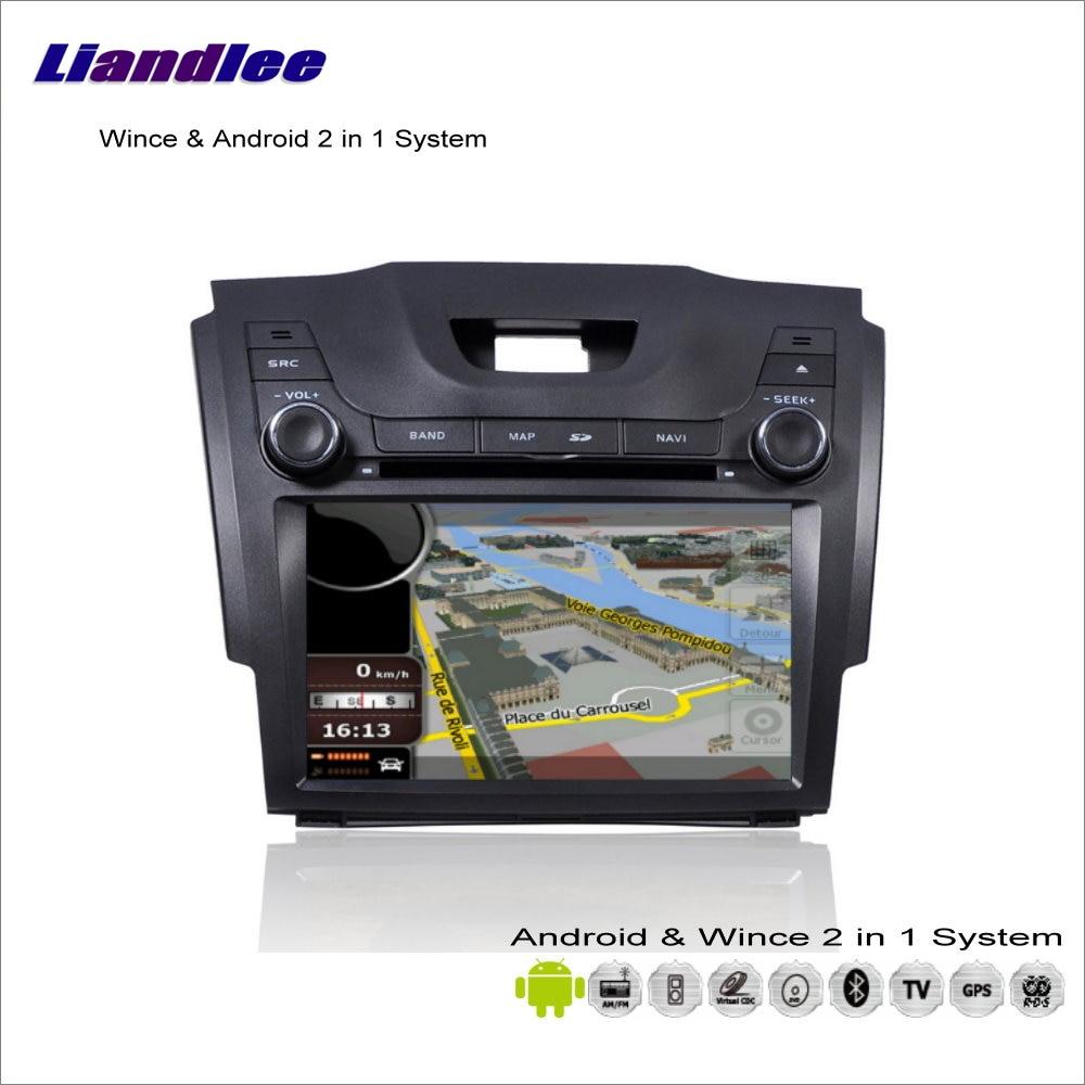 Liandlee coche Android Multimedia estéreo para Chevrolet Colorado/Gran Blazer Radio CD DVD Player GPS Navi navegación Audio Video