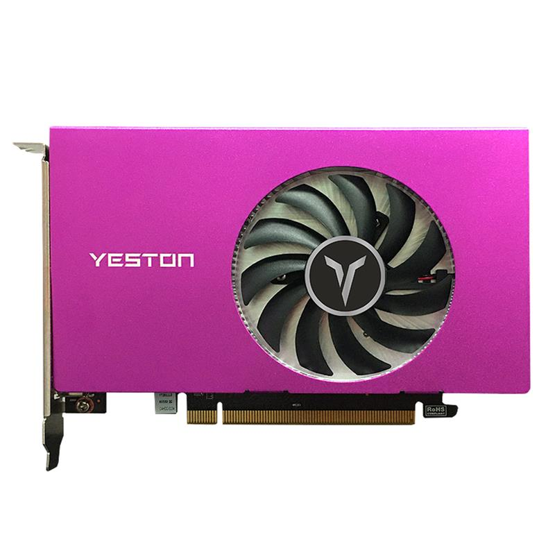 Yeston بطاقة جرافيكس RX550-4G 4 HDMI 4-حامل شاشة سبليت شاشة 10bit لون عمق HDR 4G/128bit/GDDR5 مع 4 منافذ HDMI