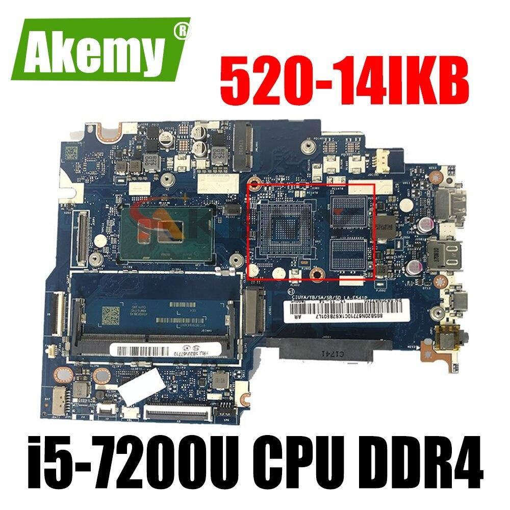 لينوفو اليوغا 520-14IKB اللوحة المحمول LA-E541P مع i5-7200U CPU DDR4 MB 100% اختبار سريع السفينة