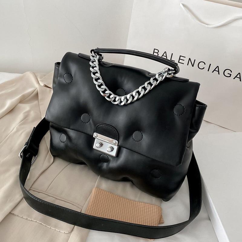 سلسلة صغيرة العلامة التجارية مصمم بولي Leather حقائب جلدية Crossbody للنساء 2021 حقيبة كتف بسيطة سيدة حقيبة يد فاخرة والمحافظ