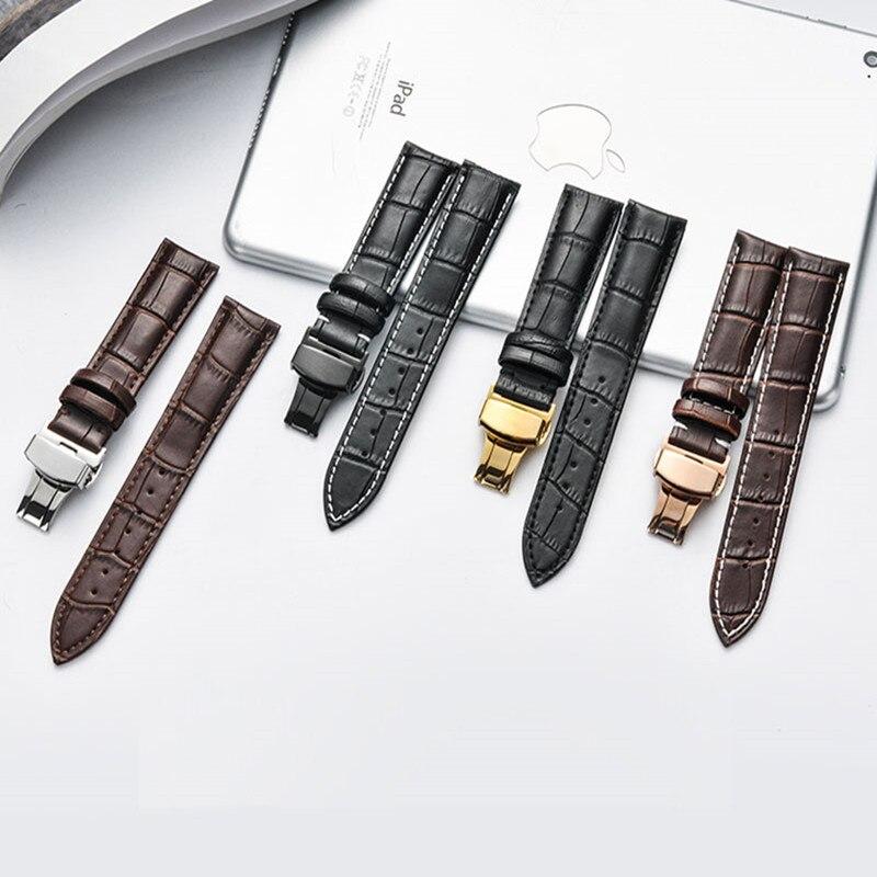 Novo de Alta qualidade pulseira de couro Genuíno 16 22 21 20 19 18mm mm mm mm mm mm pulseira de cou