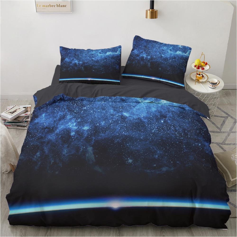 اليورو الأسرة مجموعات أغطية السرير مجموعة للمنزل الفراش مجموعة غطاء بطانية 150*200 200*220 حجم 2 sp ورقة السرير 4 قطعة غالاكسي السماء المرصعة بالنجوم
