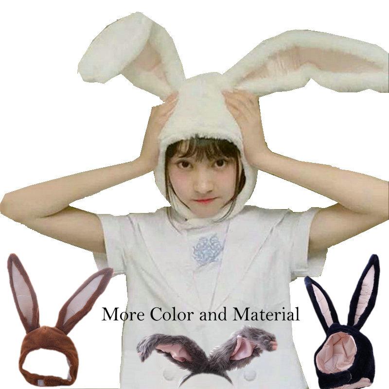 popular girls rabbit Headband Plush Rabbit ears hoops white bunny ears Headdress gifts for woman Photographic tools Selfie