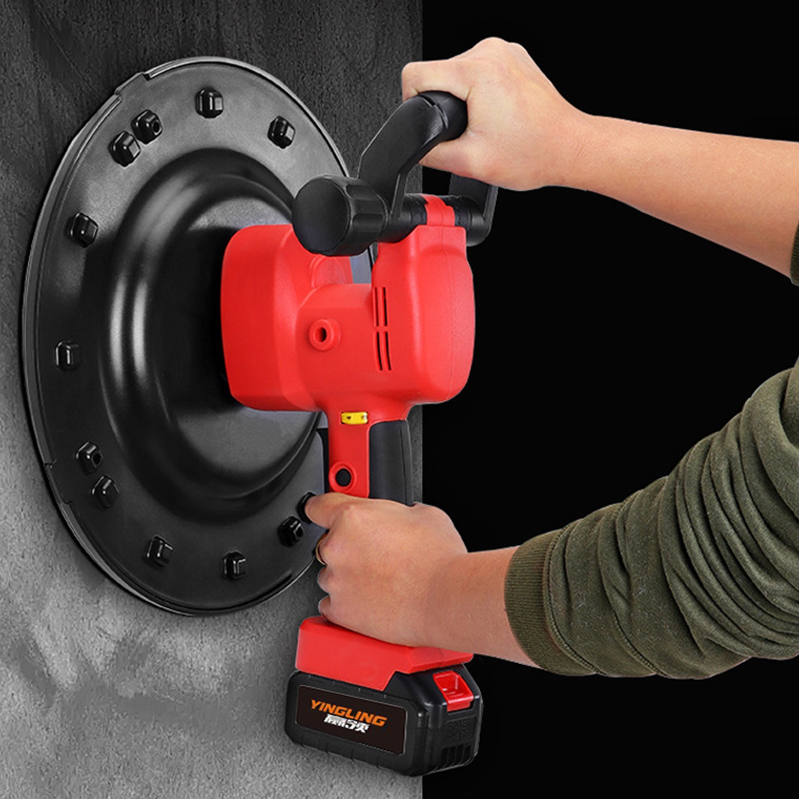 Small Mortar Cement Trowels Wall Smoothing Machine Adjustable 1700W Electric Trowel Wall Polishing Machine Putty Smoothing Tool