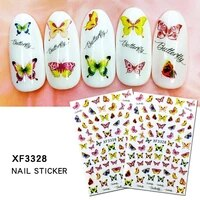 1 sheet 3d floral nail sticker adhesive plants colorful beautiful flowers nail transfer sticker decals nail art decoration