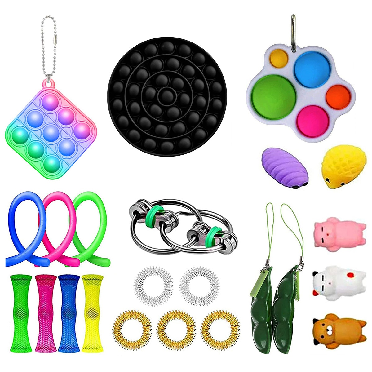 23 Pack Sensory Fidget Toys Set Stress Relief Sensory Toy Set Antistress Relief Autism Anxiety Anti Stress Bubble Toys For Kids enlarge