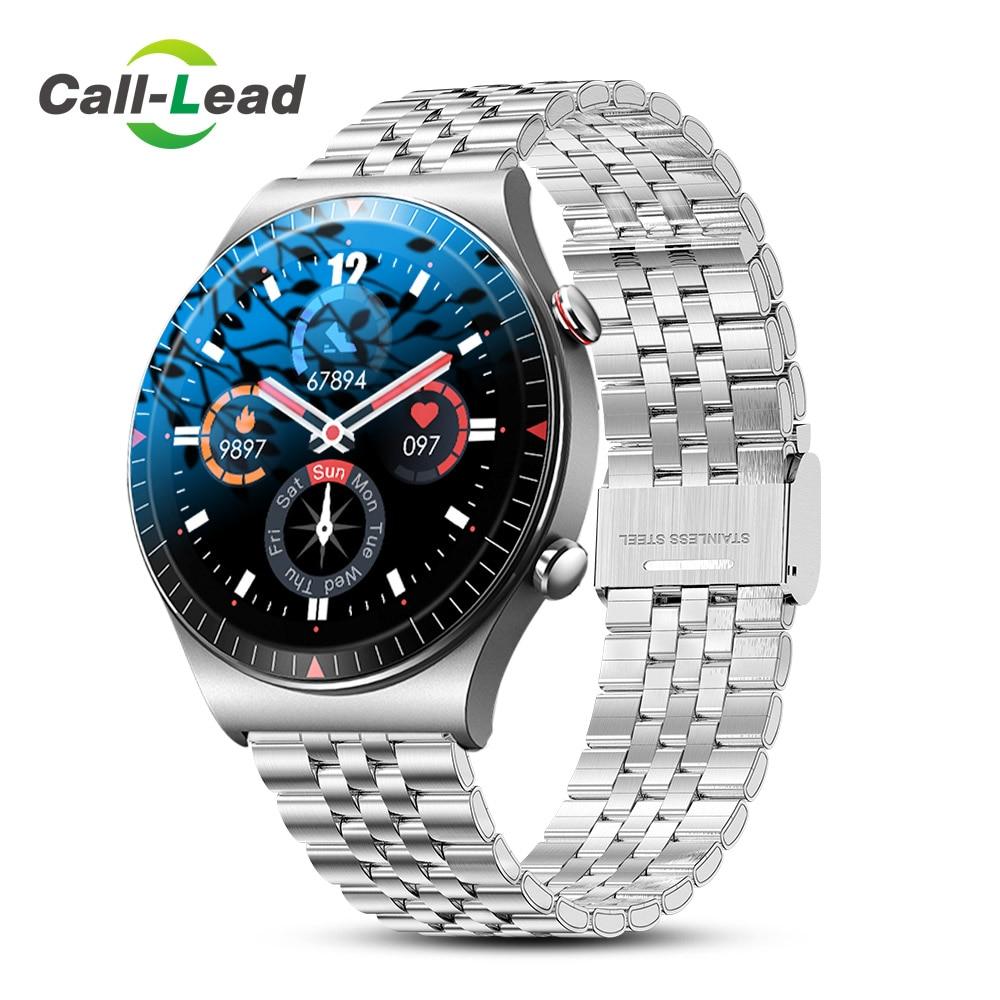 ذاكرة كبيرة الموسيقى ساعة ذكية الرجال بلوتوث دعوة شاشة تعمل باللمس الكامل Smartwatch تسجيل وظيفة سوار رياضي مقاوم للماء