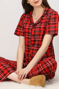 Пижамный комплект на пуговицах, с защитой от пота и удобным воротником
