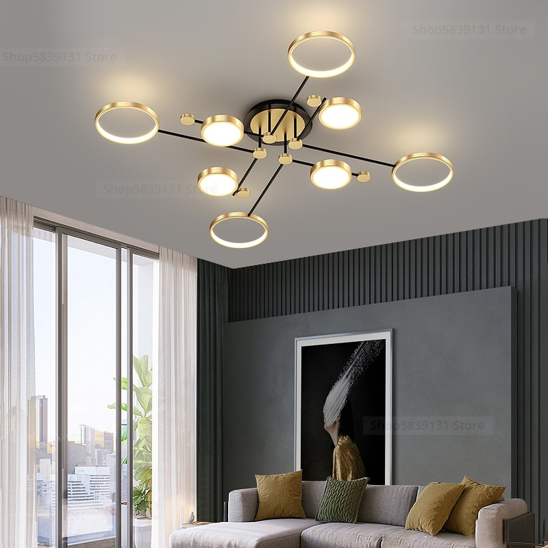 Lustres-مصباح سقف LED من الألومنيوم ، تصميم حديث ، إضاءة داخلية ، إضاءة سقف زخرفية ، مثالية لغرفة المعيشة أو غرفة النوم.