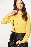 y2k blouses elegantes za womens 2021 shirt temperament professional wear summer autumn yellow long sleeved button fashion
