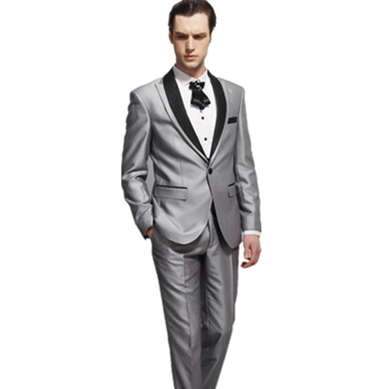 بدلة عريس رجالية, بدلة عريس رسمية فضية لامعة مخصصة 2021 كلاسيكية