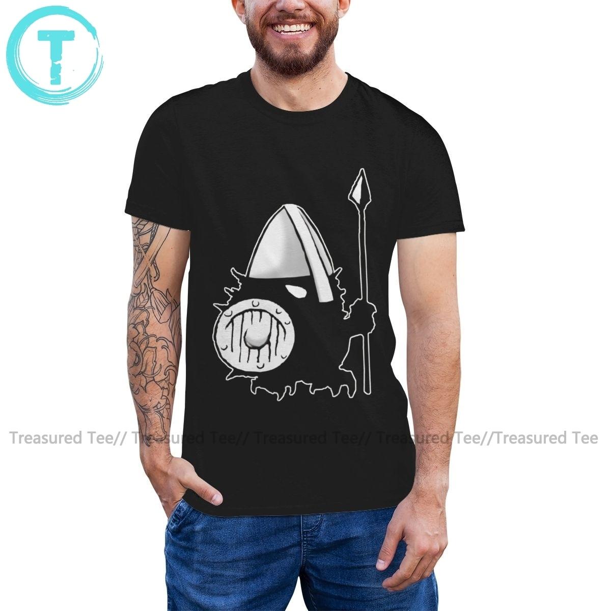 Vikings T Shirt Viking Hedgehogs T-Shirt Short Sleeves Graphic Tee Shirt Funny Male 100 Percent Cotton Tshirt