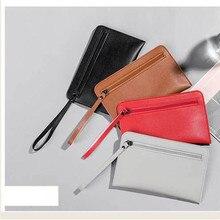 Simple pratique petit sac à main en cuir téléphone portable sac à main Simple solide dames décontracté main prendre portefeuille de haute qualité portefeuilles