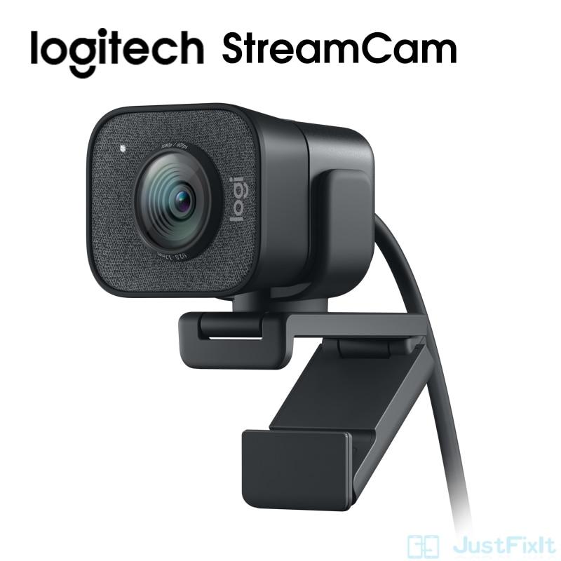 StreamCam Logitech Webcam Full HD 1080P / 60fps Autofocus Built-in Microphone Web Camera